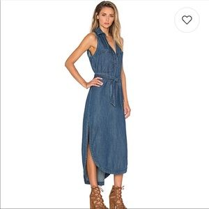 Free People cecelia denim dress in Neil wash